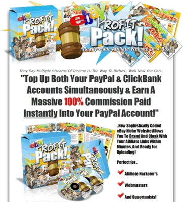 Product picture eBay Profit Pack - Affiliate Website - Master Resell Rights